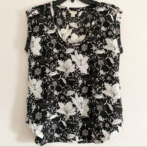 J. Crew Factory Draped Scoopneck Floral Top